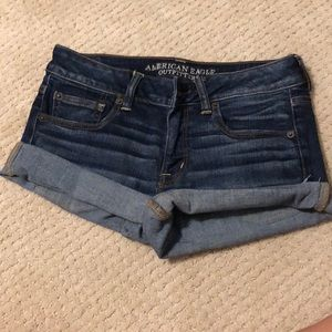 Super stretch jean denim shorts